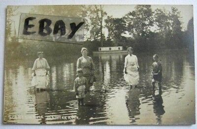Rppc-Photo-Women & Children In The Maumee River, In 1907-1915