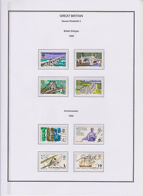 GB Used Stamp Collection 1968 Complete QEII Commemorative Year Set See Scans