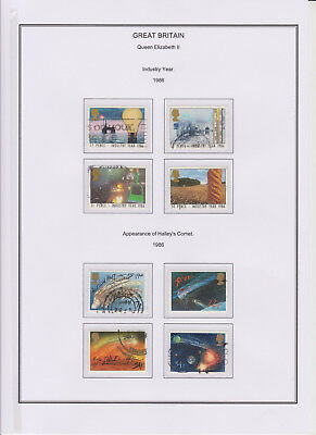 GB Used Stamp Collection 1986 Full Commemorative Year Set Complete See All Scans