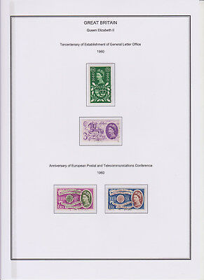 GB Used Stamp Collection 1960 Complete QEII Year Set See scan