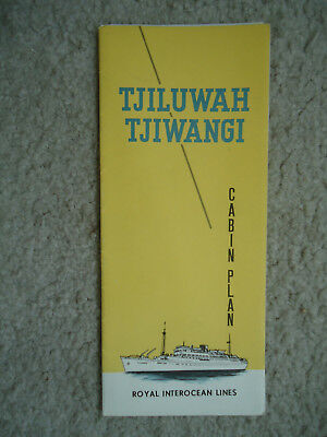 Royal Interocean Lines - mv Tjiluwah / mv Tjilwangi  - Deck Plan -1966