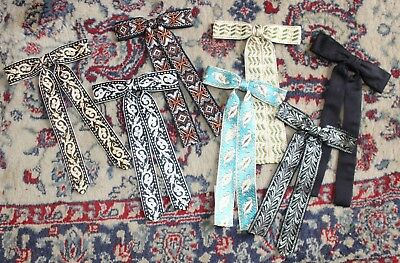 Lot of 7 Vintage Men's Western Neckties Bow Ties Clip-On Square Dancing