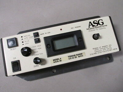 1 PCS ADVANCED SYS GROUP 640-71 AS IS TORQUE TESTER RANGE Calibrators