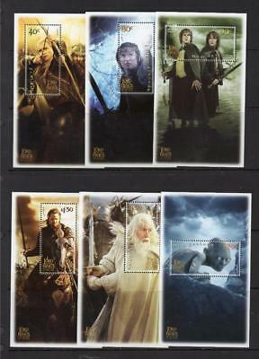 New Zealand Mnh 2003 Sg2652-2657 The Lord Of The Rings 3Rd Issue Sheets X 6