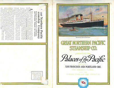 Great Northern Pacific Steamship-Pacific Palaces-San Francisco & Portland-1915