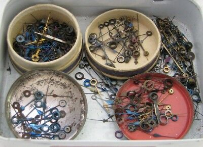 Large Lot Of Nos Antique Pocket Watch Hands Parts Repair