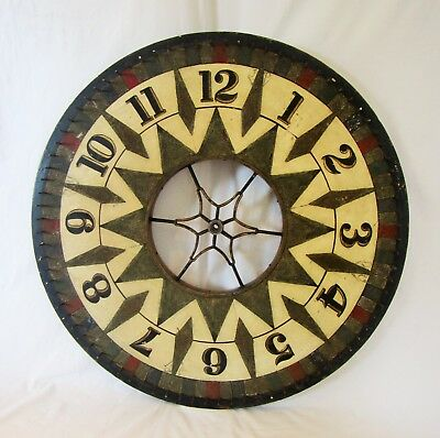 RARE Antique Double-Sided Carnival Casino Circus Game Spinning Wheel of Chance