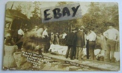 Rppc-41 Killed-Bodies Covered-Wabash Valley R. R. Crash, Near Kingsland, In 1910