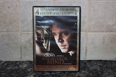 A Beautiful Mind (DVD, 2002, 2-Disc Set, Limited Edition Packaging Full Frame Aw