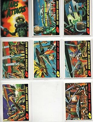 1994 Topps Mars Attack Partial Set 92/99 cards
