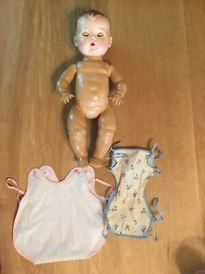 Tiny Tears Doll With Sunsuit And Rubber/cloth Tie On Diaper