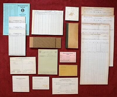 Illinois Central Railroad Office Supply Business Forms Lot Pads Books Timetable