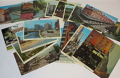 Lot of 20 Vintage Postcards Featuring Illinois & Louisiana Images