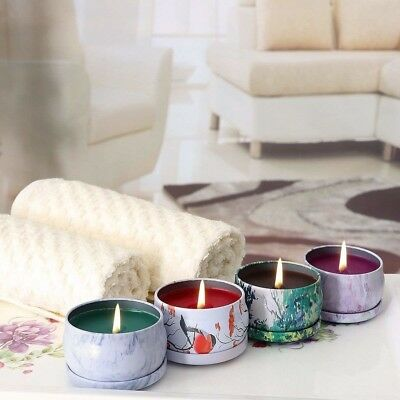 KitchenGynti Scented Candles Gift Set - Lavender, Rose, Tea Tree and Peppermint,