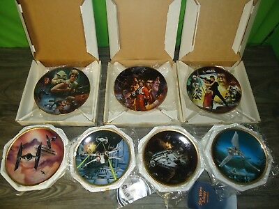 vintage The Hamilton collection Star Wars plate lot collection