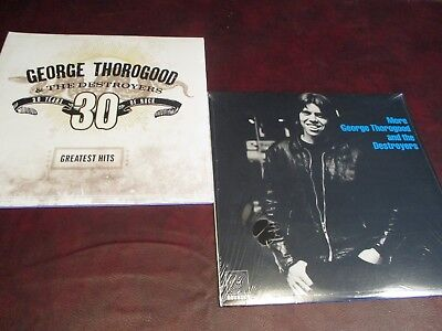 GEORGE THOROGOOD HITS + MORE ROUNDER RECORDS 1980 ISSUE Analog Sealed LP SET