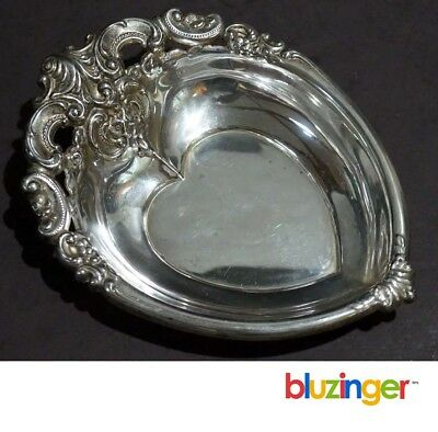 Antique WALLACE #850 Sterling Silver Heart Shaped Bowl