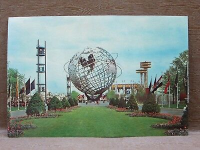 """Giant Postcard of the UNISPHERE at the 1964 1965 NEW YORK WORLD'S FAIR, 6"""" x 9"""""""