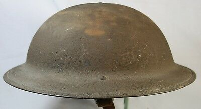 Original US WW1 World War 1 Dough-boy Metal Helmet with Liner and Partial Strap.