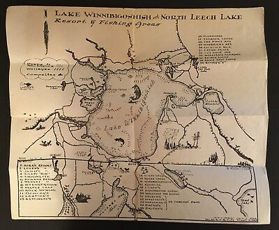 LAKE WINNIBIGOSHISH MINNESOTA and NORTH LEECH LAKE  RESORT & FISHING AREA MAP