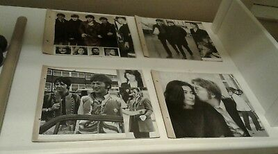 Vintage Beatles photos and pictures on card, originally in an old photo album
