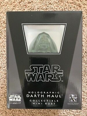 Gentle Giant Star Wars Holographic Darth Maul Exclusive Collectible Mini Bust
