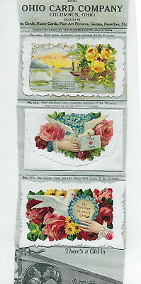 Victorian Trade Cards Calling Cards with Salesman Samples Advertising
