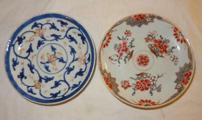 2 18th Century CHINESE Export Porcelain Saucers