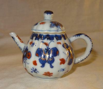 18th Century CHINESE Export Porcelain Teapot with Silver Teapot w Provenance