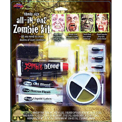 Fun World - Family Size All in One Zombie Makeup Kit