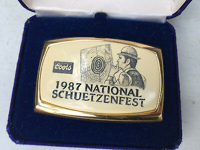 Adolph Coors Company 1987 National Schuetzenfest Limited Edition Belt Buckle