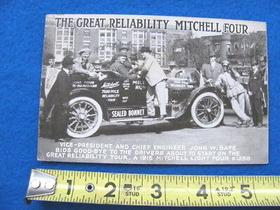 Vintage 1915 MITCHELL FOUR automobile advertising POSTCARD
