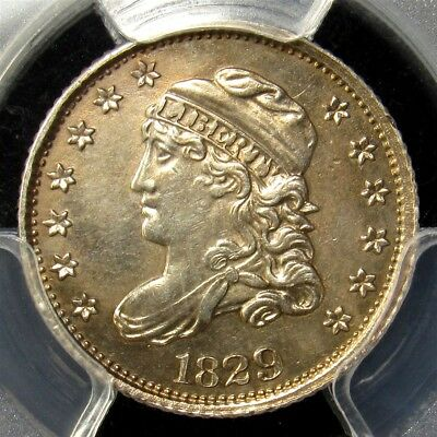 1829 Capped Bust Half Dime - PCGS AU Detail -Certified Silver About Uncirculated