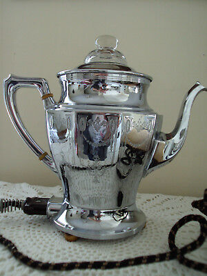 VTG Landers Frary & Clark Universal  Art Deco Electric Coffee Pot Percolator