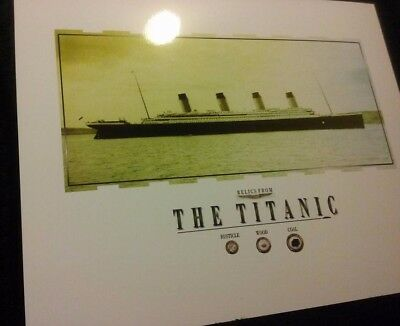 Pieces of COAL, WOOD and RUSTICLE recovered from the 1912 R.M.S Titanic sinking