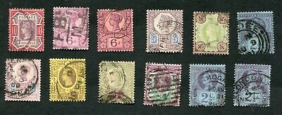Stamp Lot Of 1887 Great Britain ($130+)
