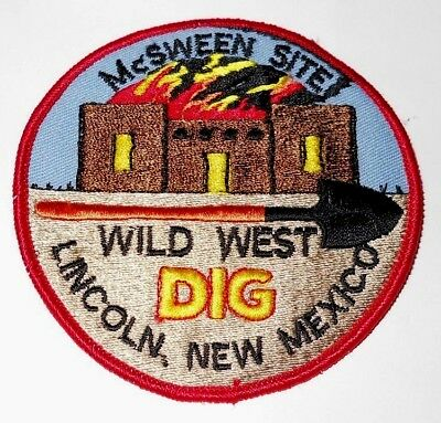 Vintage McSween Site Wild West Dig, Lincoln New Mexico Jacket Patch