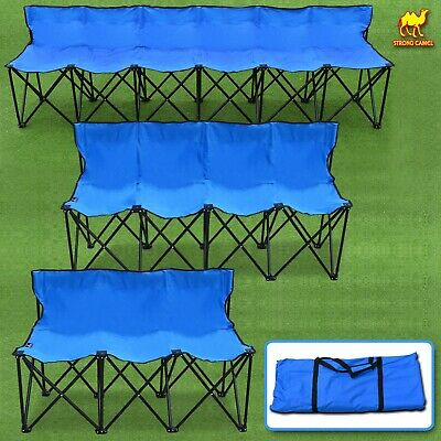 Tremendous Portable Folding Chairs 6 Seater Sports Bench Soccer Dailytribune Chair Design For Home Dailytribuneorg