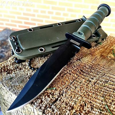 """6"""" TACTICAL HUNTING Boot Neck Survival FIXED BLADE KNIFE Military + SHEATH Q"""