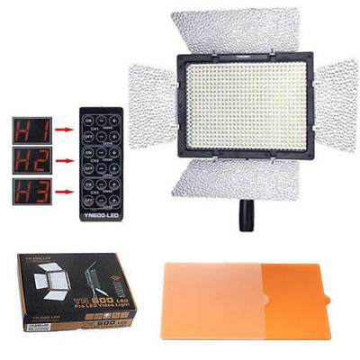 YONGNUO YN600 LED Light 5500K Portable Handheld with Remote for Canon Nikon US-W