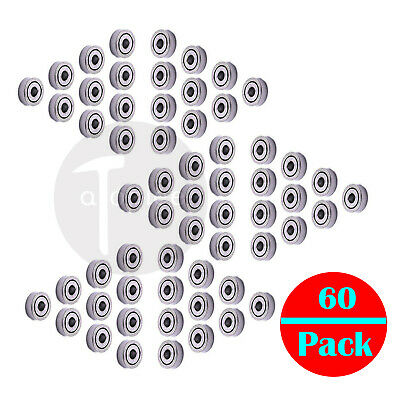 60x 681ZZ 1x3x1mm Mini Miniature Micro Ball Bearings Shield bearing Replacement