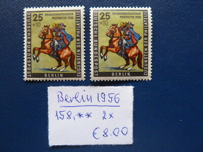 Berlin 1956, Tag der Briefmarke, Michel 158, **, 2 x