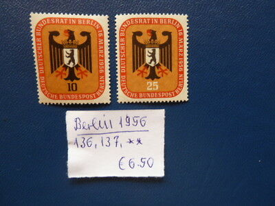 Berlin 1956, Deutscher Bundesrat in Berlin, Michel 136, 137, **