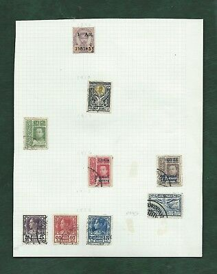 Thailand Siam nice lot of MH and used old stamps on album pages (f)