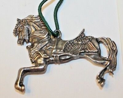 REED & BARTON Silverplate 1st Annual Edition CAROUSEL HORSE ORNAMENT #1360