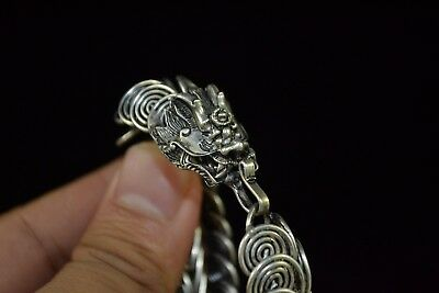 Collectible Vintage Tibet Silver Dragon scales women gift Bracelet china style