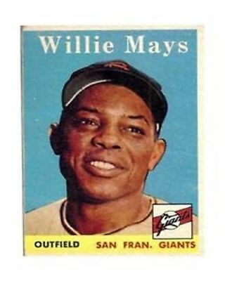 WILLIE MAYS TRADING CARD  PHOTO 5x7 with frame