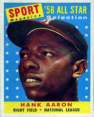 Hank AARON 1958 TRADING CARD  PHOTO 5x7 with frame