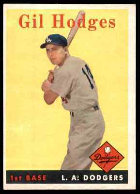 Gil Hodges 1958 TRADING CARD  PHOTO 5x7 with frame