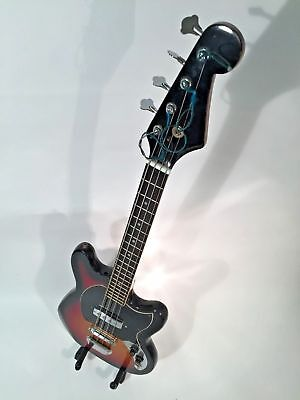 Late 1960's Teisco short scale bass electric guitar, Made in Japan, good player